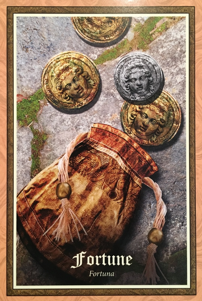Fortune, from the Gospel Of Aradia Oracle Card deck, by Stacey Demarco, artwork by Jimmy Manton