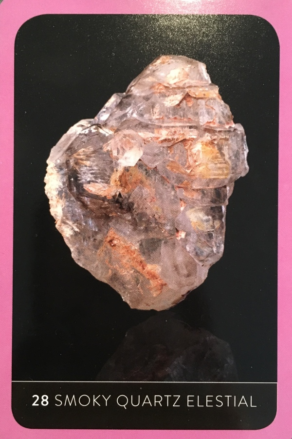 Smoky Quartz Elestial, from The Crystal Wisdom Healing Oracle, by Judy Hall