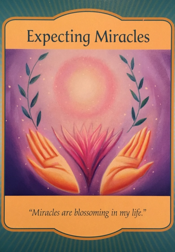 Expecting Miracles, from the Gateway Oracle Card deck, by Denise Linn