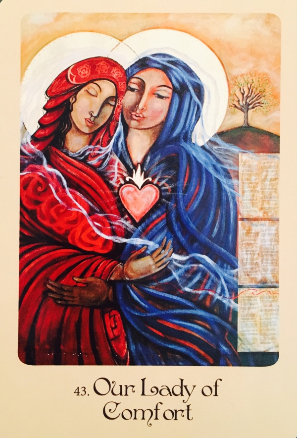 Our Lady Of Comfort, from the Mother Mary Oracle Card deck, by Alana Fairchild, artwork by Shiloh Sophia McCloud