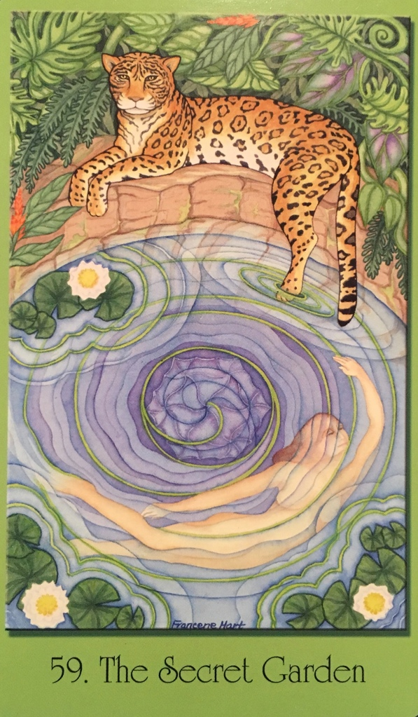 The Secret Garden, from the Sacred Geometry For The Visionary Path Oracle Card deck, by Francene Hart