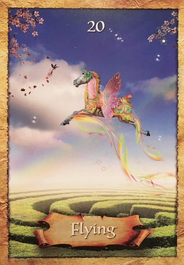 Flying, from the Enchanted Map Oracle Card deck, by Colette Baron-Reid
