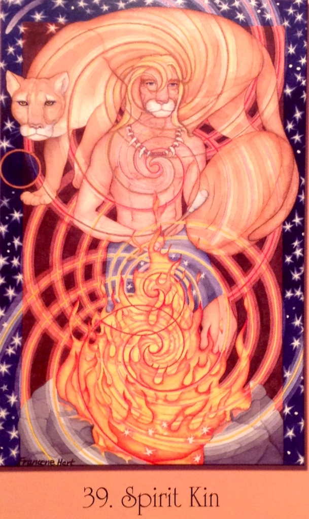 Spirit Kin, from the Sacred Geometry Cards For The Visionary Path, by Francene Hart