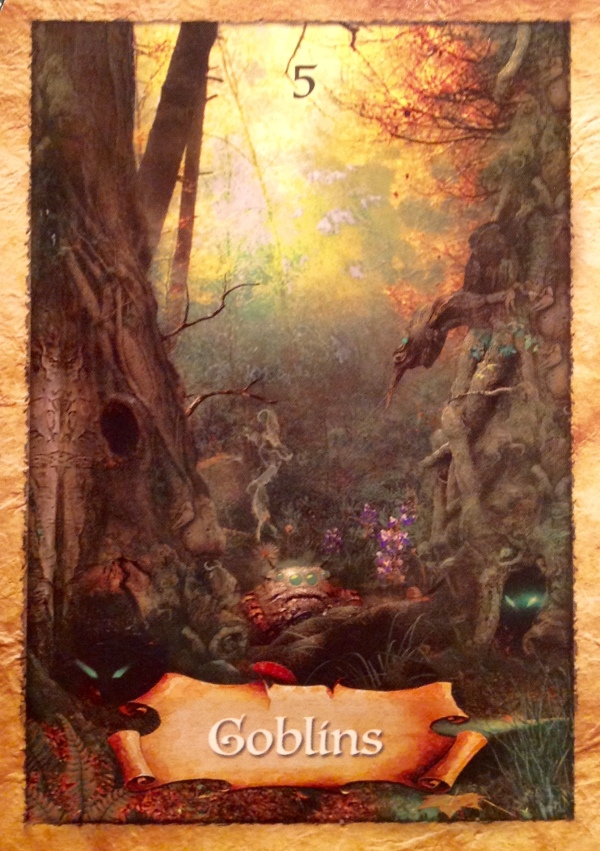 Goblins, from The Enchanted Map Oracle Card deck, by Colette Baron-Reid