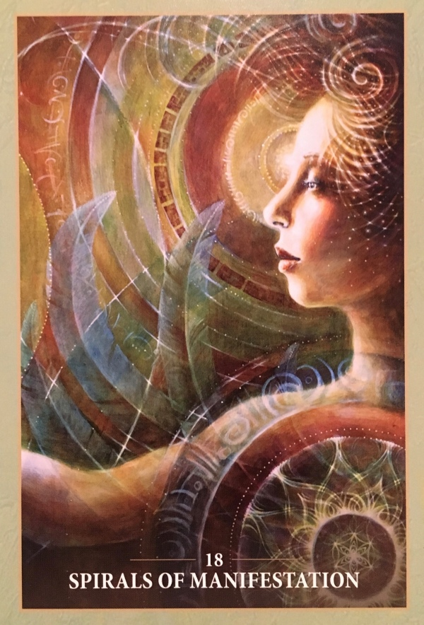 Spirals Of Manifestation, from the Sacred Rebels Oracle Card deck, by Alana Fairchild, artwork by Autumn Skye Morrison