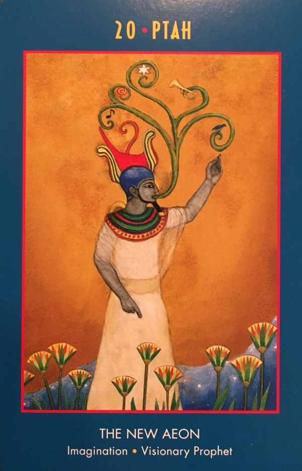 Ptah, from the Anubis Oracle, by Nicki Scully and Linda Star Wolf, illustrated by Kris Waldherr