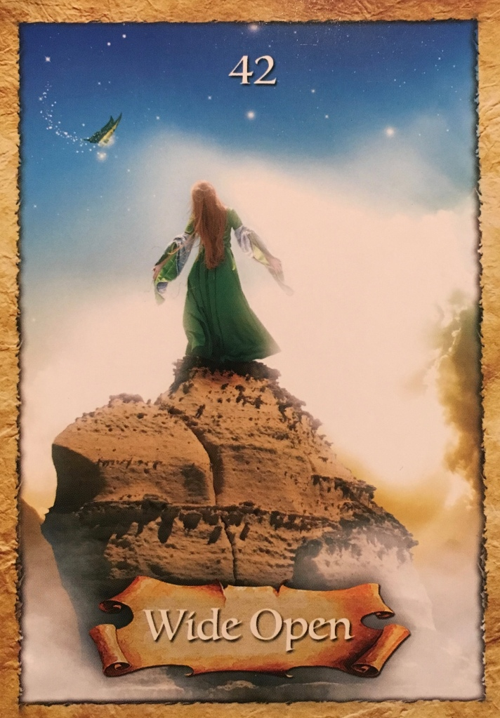 Wide Open, from the Enchanted Map Oracle Card deck, by Colette Baron-Reid