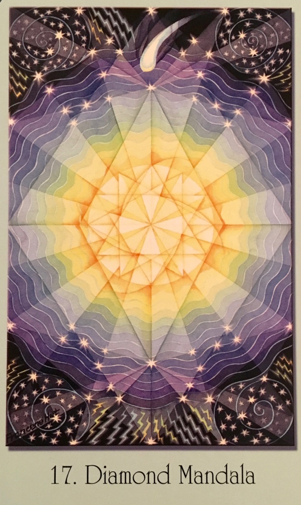Diamond Mandalas, from the Sacred Geometry  Oracle Cards For The Visionary Path, by Francene Hart