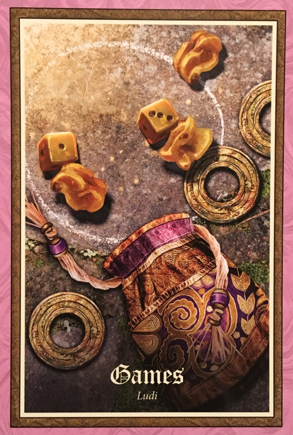 Games ~ Ludi, from the Gospel Of Aradia, by Stacey Demarco, Artwork by Jimmy Manton