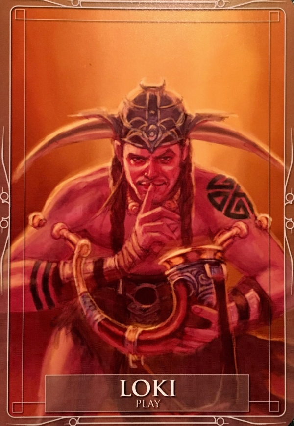 Loki ~ Play, from the Gods and Titans Oracle Card deck, by Stacey Demarco, artwork by Jimmy Manton