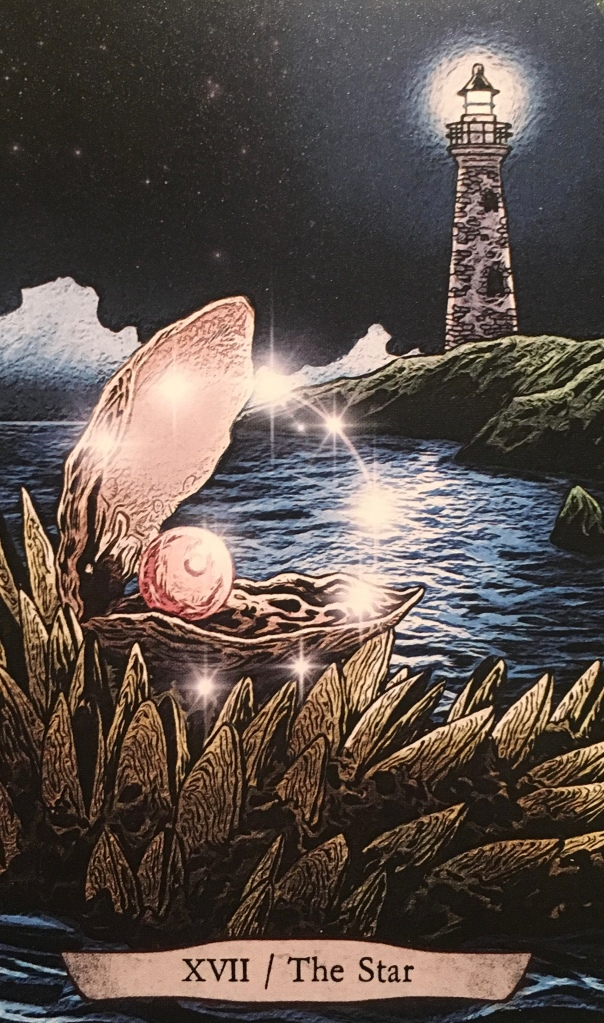 The Star/Oyster, from the Animal Totem Tarot Card deck, by Leeza Robertson, illustrated by Eugene Smith