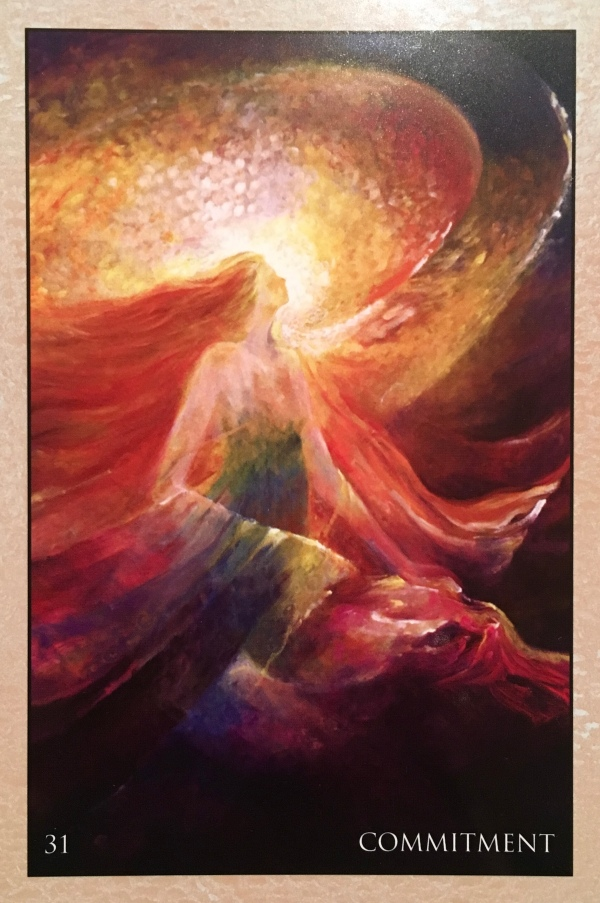 Commitment, from the RUMI Oracle Card deck, by Alana Fairchid, artwork by Rassouli