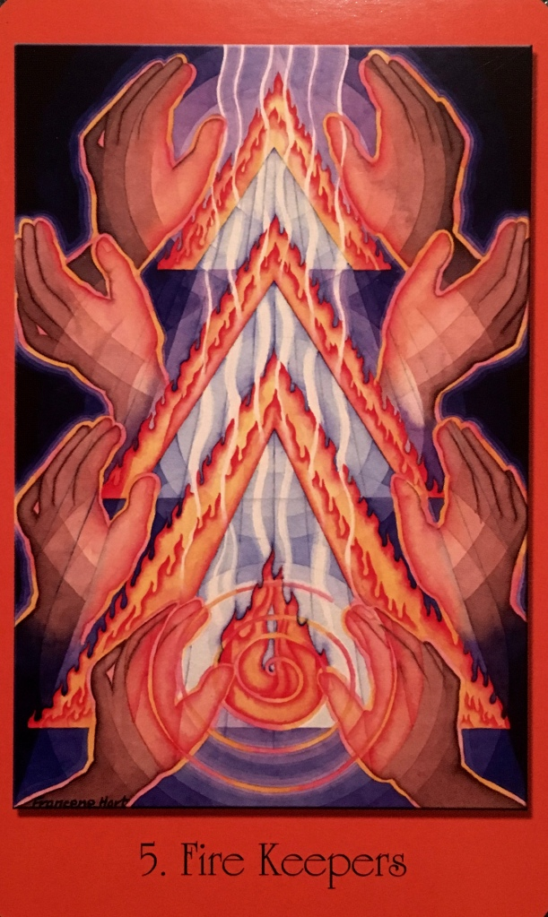 Fire Keepers, from the Sacred Geometry Cards For The Visionary Path, by Francene Hart