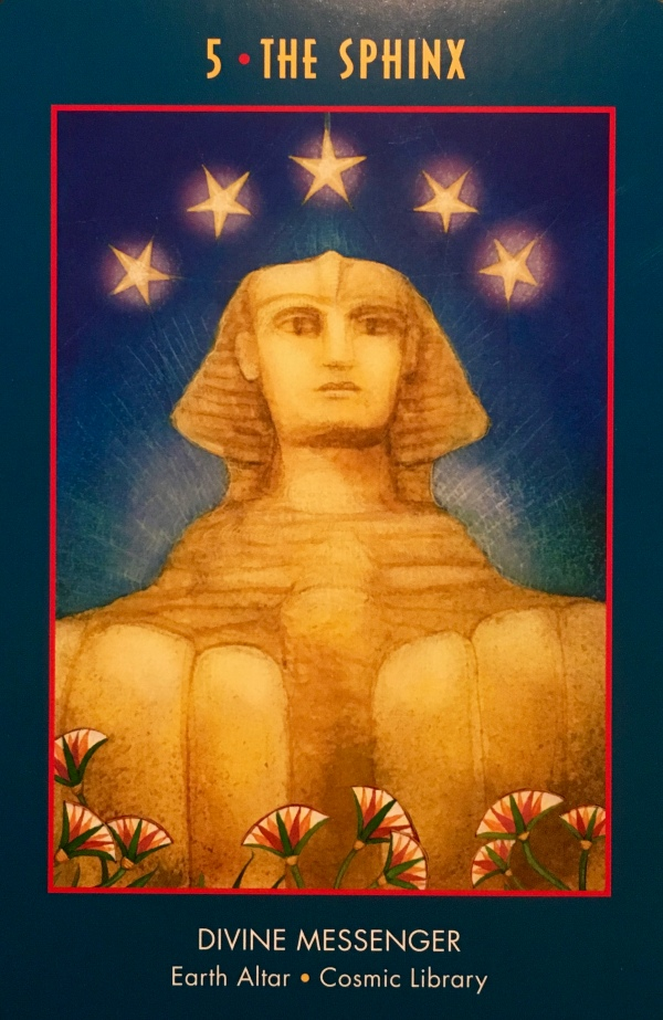 The Sphinx ~ Divine Messenger, from the Anubis Oracle, by Nicki Scully and Linda Star Wolf, Illustrated by Kris Waldherr