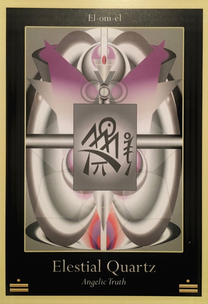 Elestial Quartz, from the Liquid Crystal Oracle Card deck, by Justin Moikeha Asar