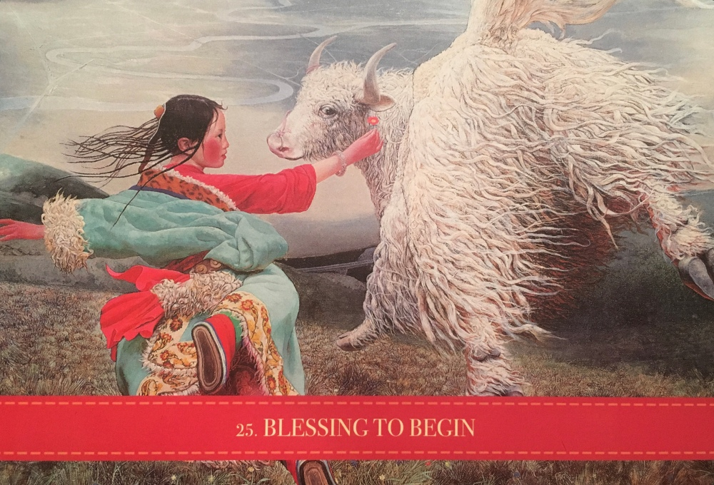 Blessings To Begin, from the Wild Kuan Yin Oracle, by Alana Fairchild, Artwork by Wang Yiguang