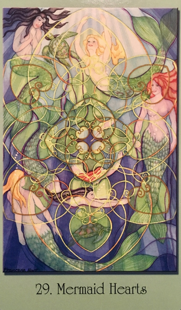 Mermaid Hearts, from the Sacred Geometry Oracle Cards for the Visionary Path, by Francene Hart