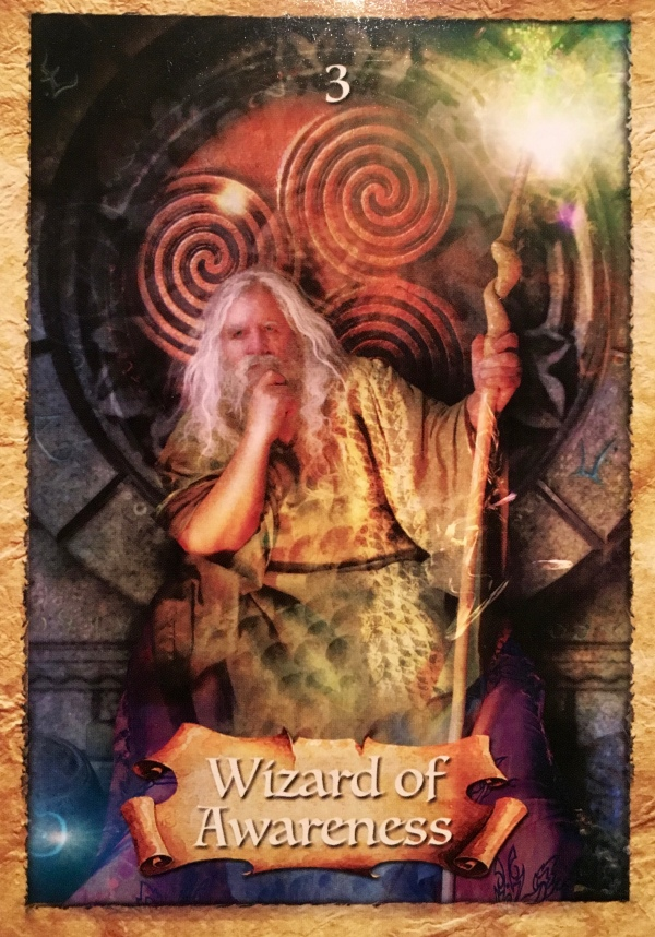Wizard Of Awareness, from the Enchanted Map Oracle Card deck, by Colette Baron-Reid, artwork by Jena DellaGrottaglia