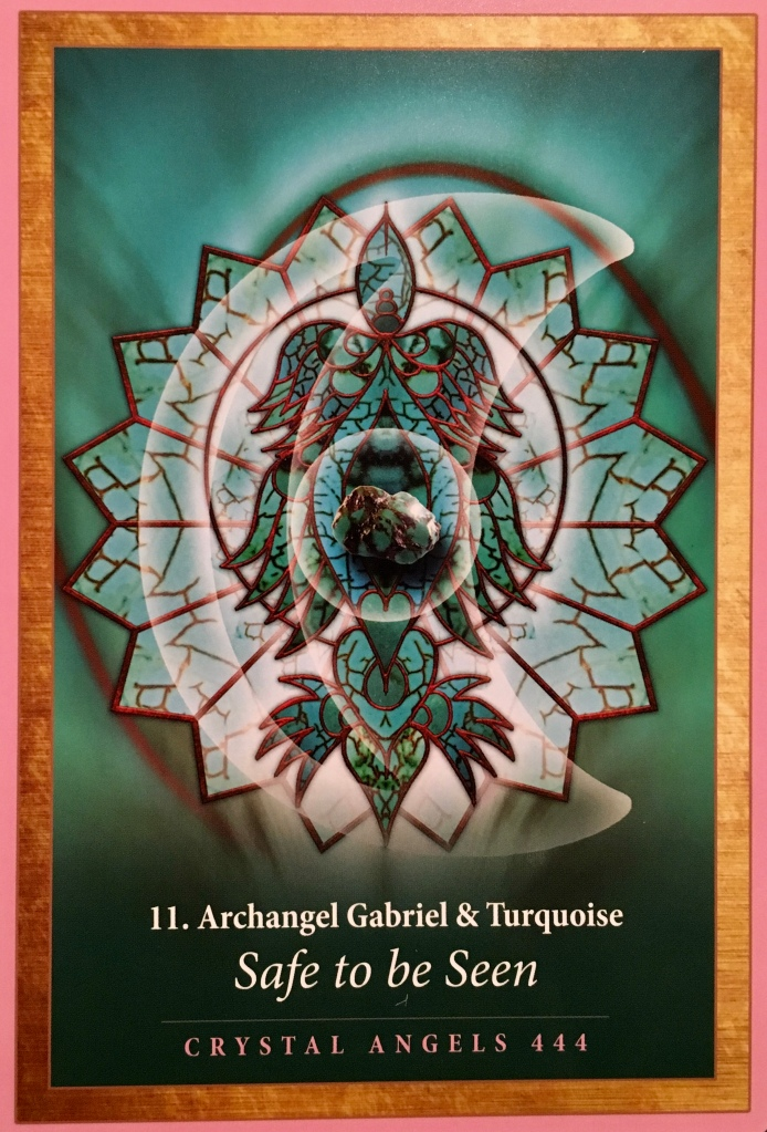 Archangel Gabriel & Turquoise, from the Crystal Mandala Oracle, by Alana Fairchild, Artwork by Jane Marin