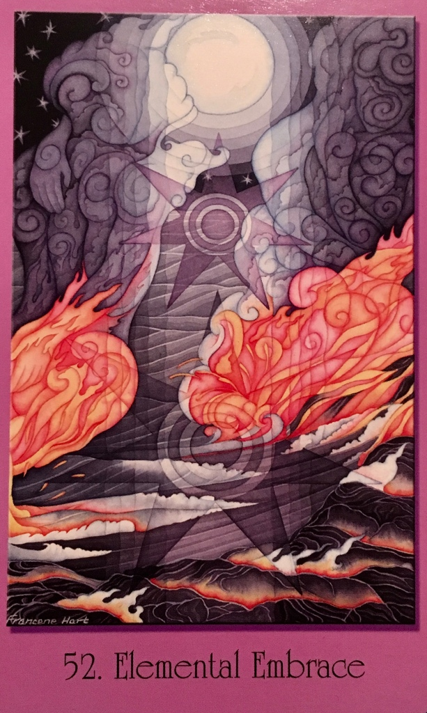 Elemental Embrace, from the Sacred Geometry Oracle Cards For The Visionary Path, by Francene Hart