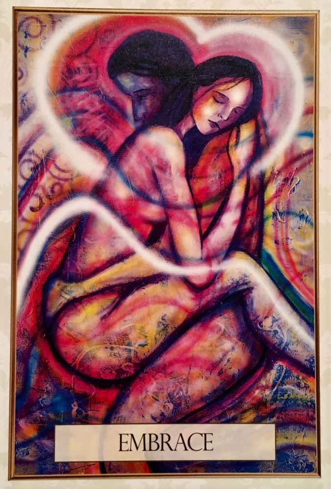 Embrace, from the Universal Love Oracle Card deck, by Toni Carmine Salerno