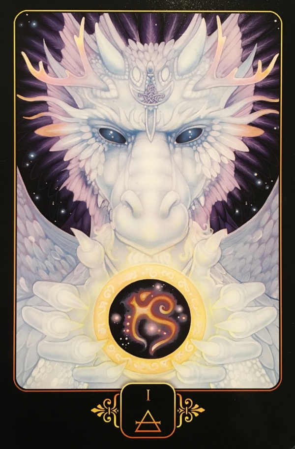 Ace Of Air, from the Dreams Of Gaia Oracle Card deck, by Ravynne Phelan