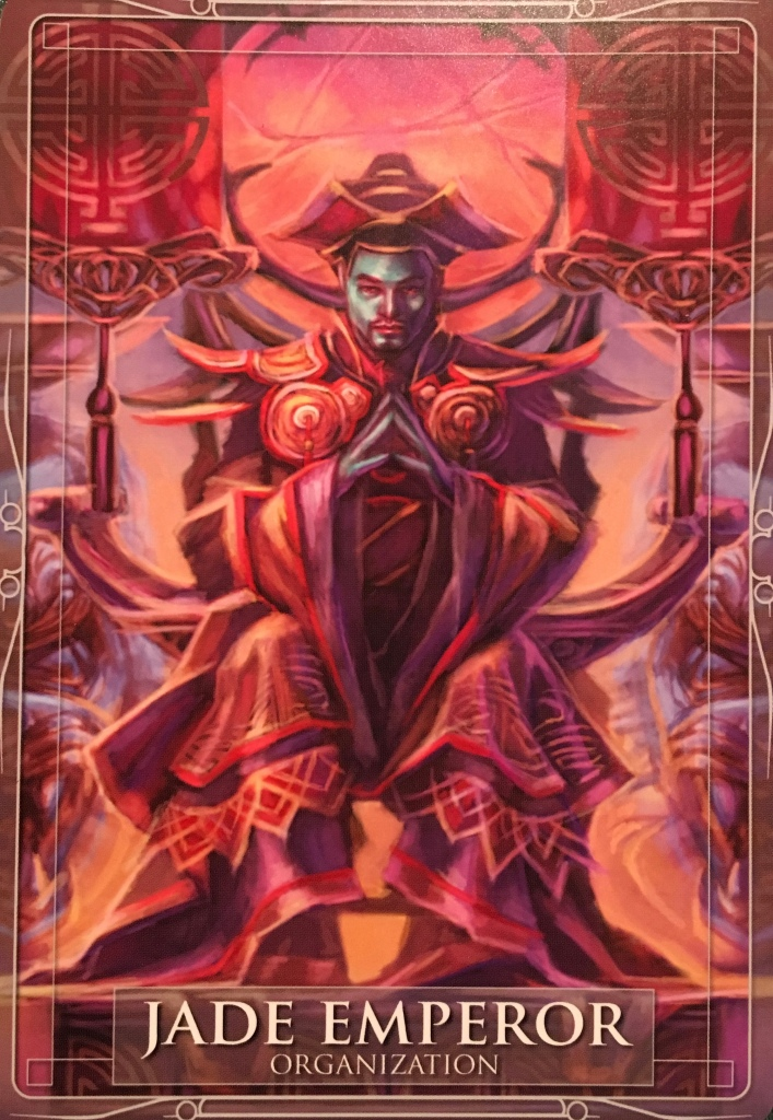 Jade Emperor, from the Gods and Titans Oracle Card deck, by Stacey Demarco, Artwork by Jimmy Manton