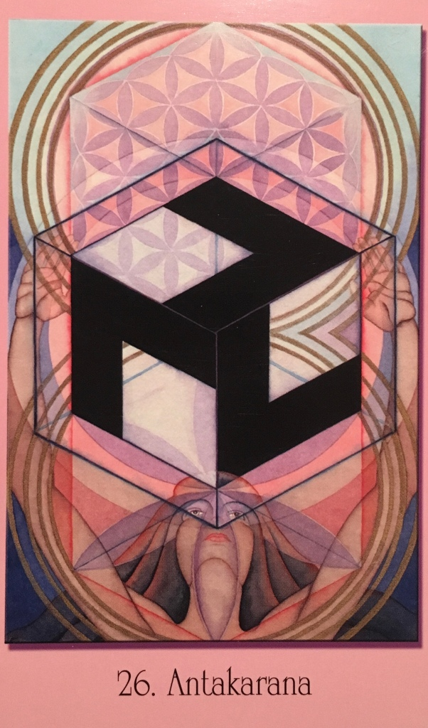 Antakarana, from the Sacred Geometry For the Visionary Path Oracle Card deck , by Francene Hart
