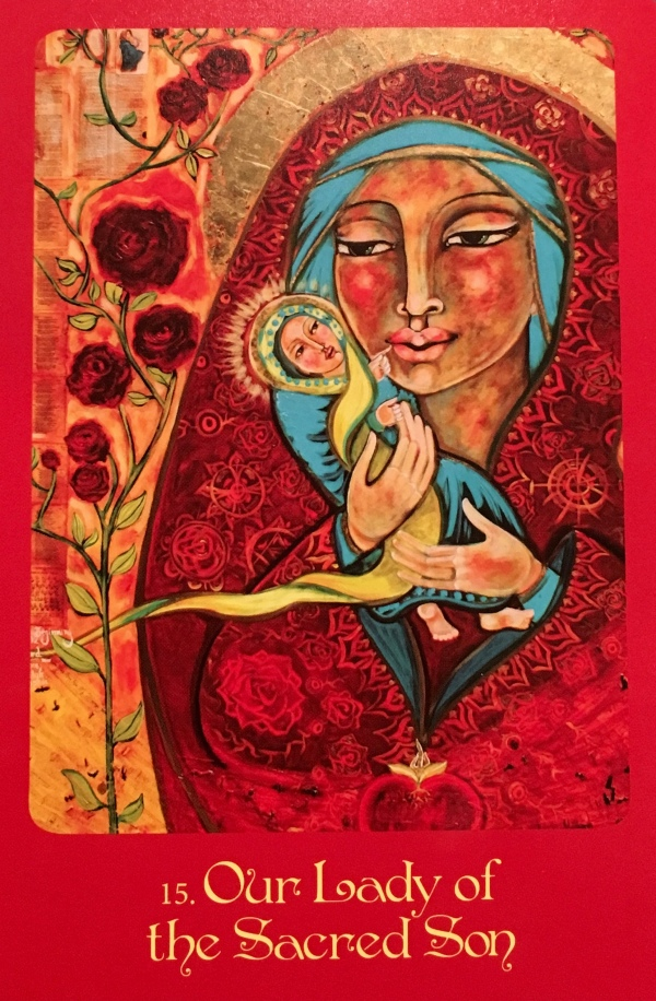 Our Lady Of The Sacred Son, from the Mother Mary Oracle Card deck, by Alana Fairchild, Artwork by Shiloh Sophia McCloud