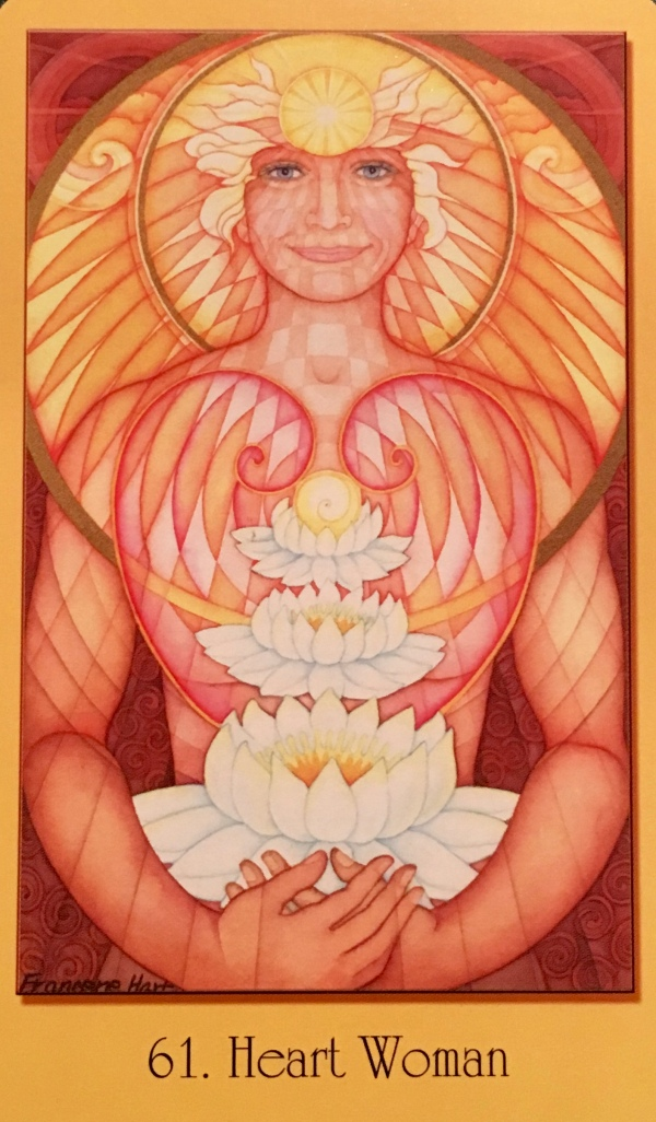 Heart Woman, from the Sacred Geometry Oracle For The Visionary Path, by Francene Hart