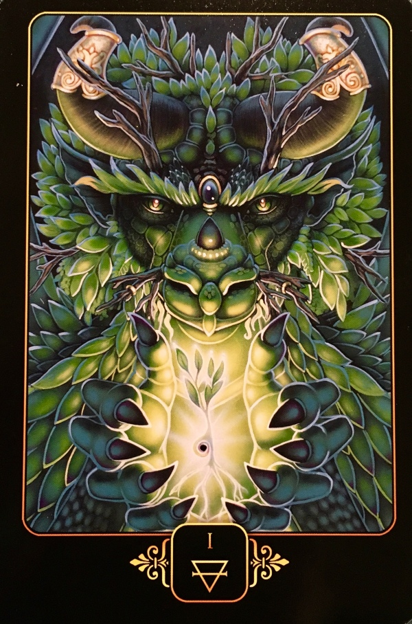 Ace Of Earth, from the Dreams Of Gaia Oracle Card deck, by Ravynne Phelan