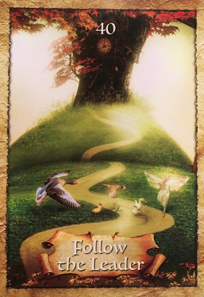 Follow The Leader, from The Enchanted Oracle Card deck, by Colette Baron-Reid artwork by Jena DellaGrottaglia