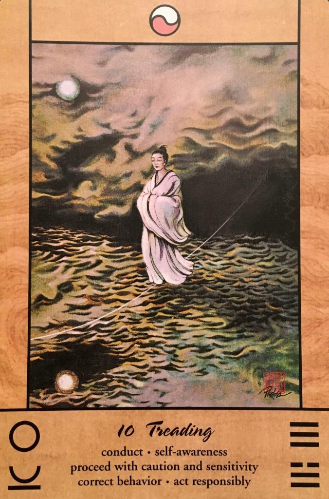 Treading, from the Tao Oracle, by Ma Deva Padma