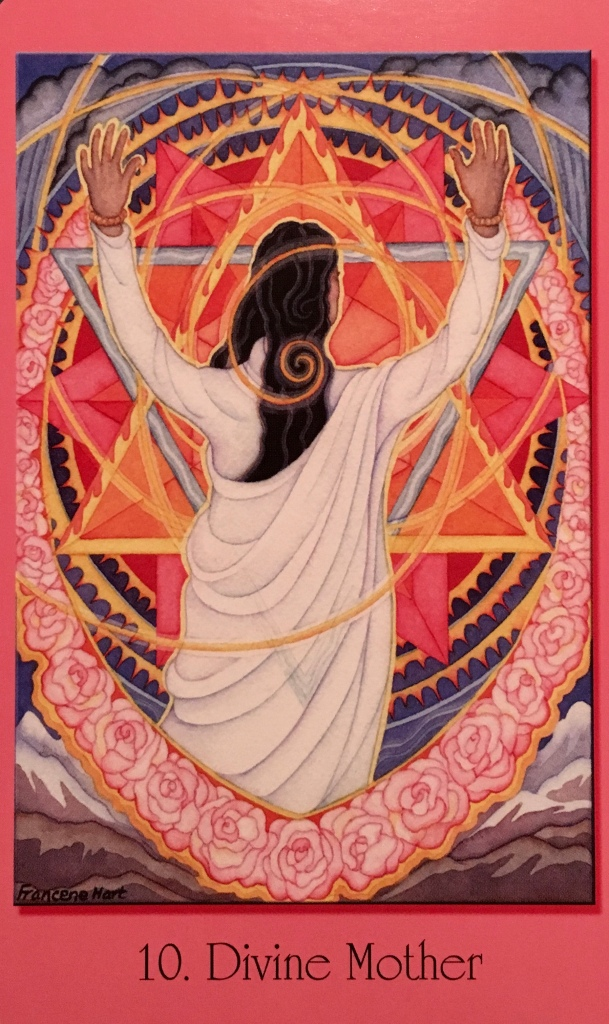 Divine Mother, from the Sacred Geometry Oracle Cards For The Visionary Path, by Francene Hart