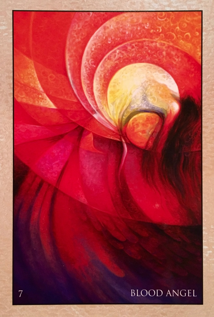 Blood Angel, from the RUMI Oracle Card deck, by Alana Fairchild, Artwork by Rassouli