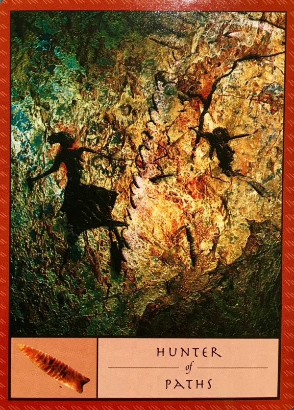 The Hunter Of Paths, from the Shaman's Oracle Card deck, by John Matthews and Wil Kinghan