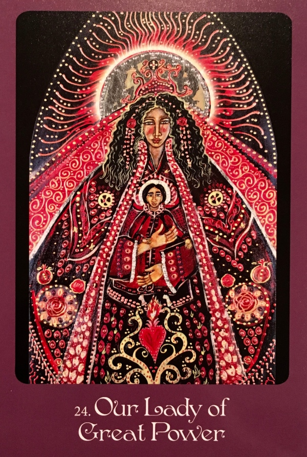 Our Lady Of Great Power, from the Mother Mary Oracle card deck, by Alana Fairchild, Artwork by Shiloh Sophia McCloud