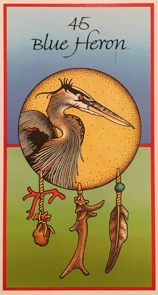 Blue Heron, from the Medicine Cards, by Jamie Sams and David Carson, Illustrated by Angela Werneke