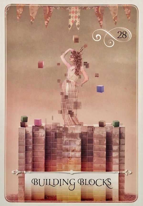Building Blocks, from the Wisdom Of The Oracle card deck, by Colette Baron-Reid