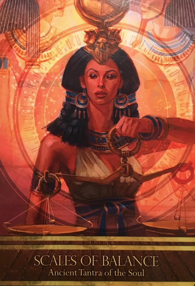 Scales Of Balance, from the Isis Oracle, by Alana Fairchild, artwork by Jimmy Manton