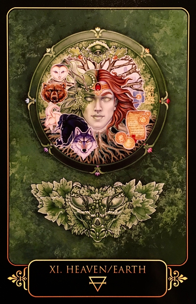 Eleven Of Earth, from the Dreams Of Gaia Oracle Card deck, by Ravynne Phelan