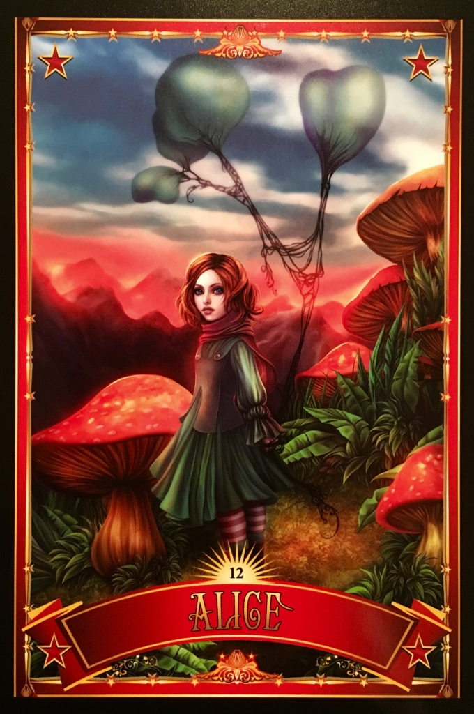 Alice, from the Divine Circus Oracle Card deck, by Alana Fairchild