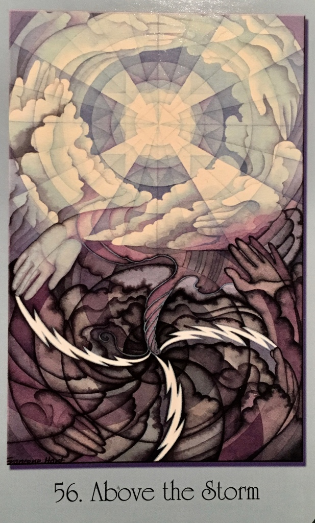 Above The Storm, from the Sacred Geometry For The Visionary Path Oracle Card deck, by Francene Hart