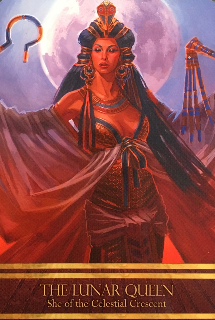The Lunar Queen, from the Isis Oracle, by Alana Fairchild, artwork by Jimmy Manton