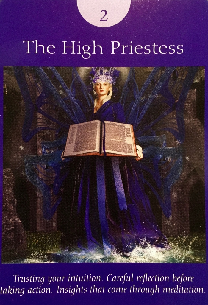 The High Priestess, from the Fairy Tarot Cards, by Doreen Virtue Ph.D and Radleigh Valentine