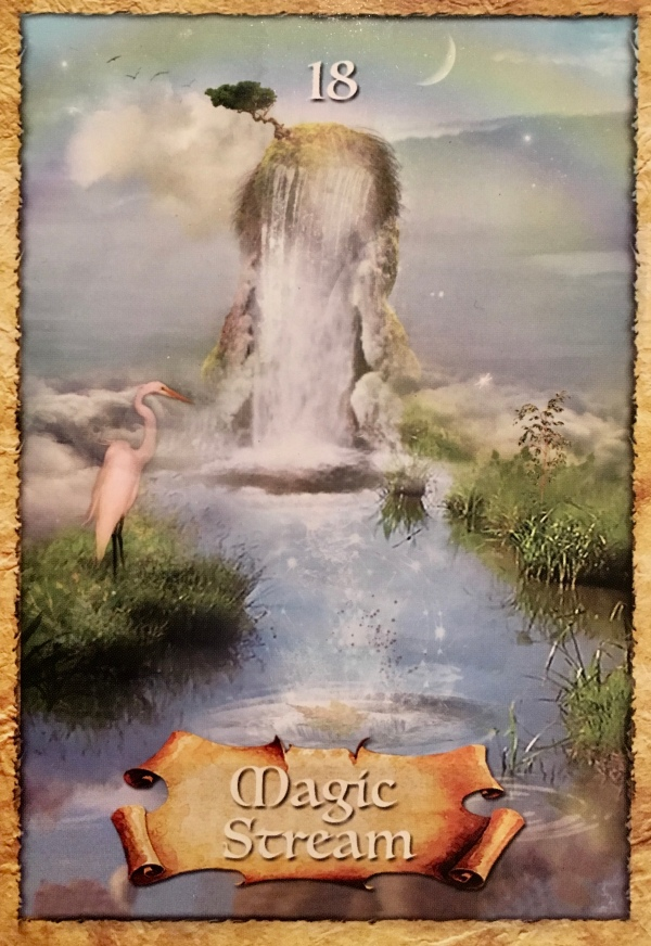 Magic Stream, from the Enchanted Map Oracle Card deck, By Colette Baron-Reid artwork by Jena DellaGrottaglia