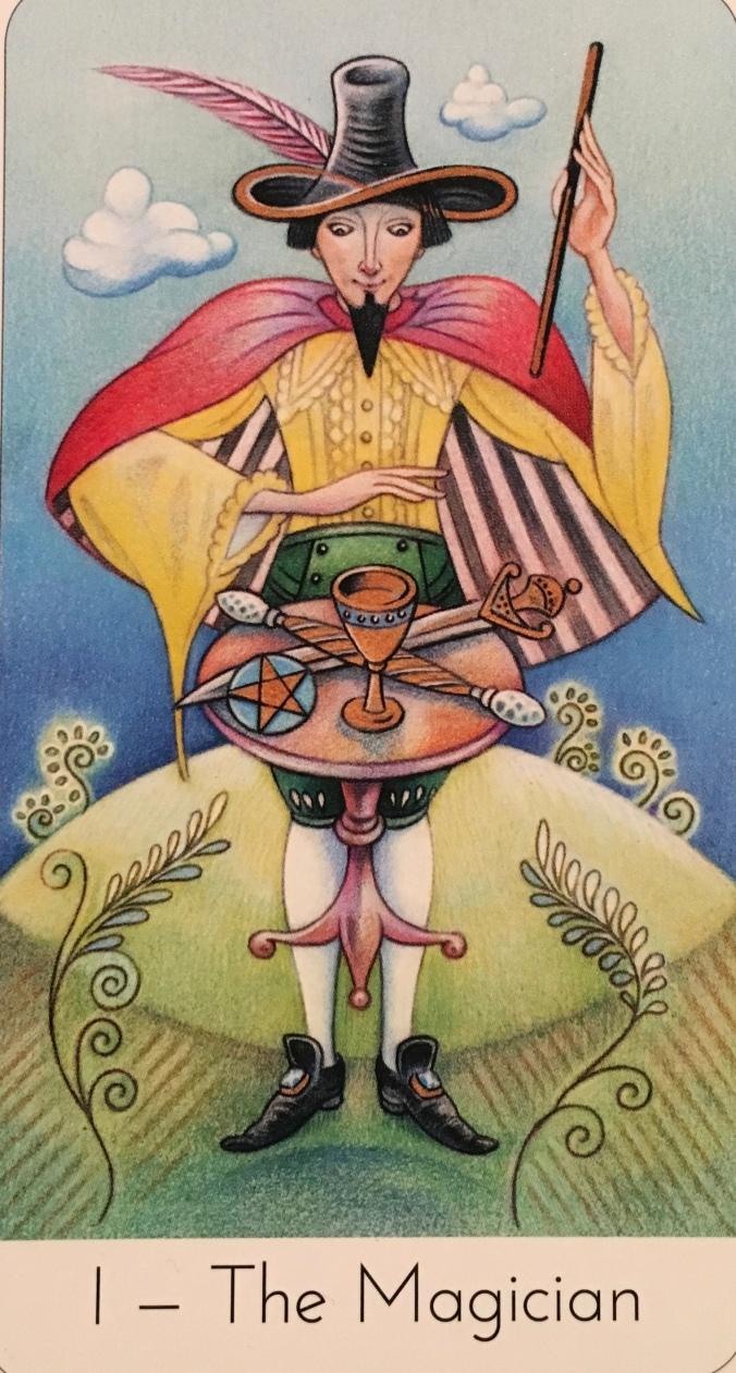 The Magician, from The Wisdom Seeker's Tarot, by David Fontana