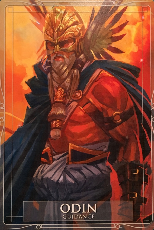 Odin, from the Gods and Titans Oracle Card deck, by Stacey Demarco, artwork by Jimmy Manton