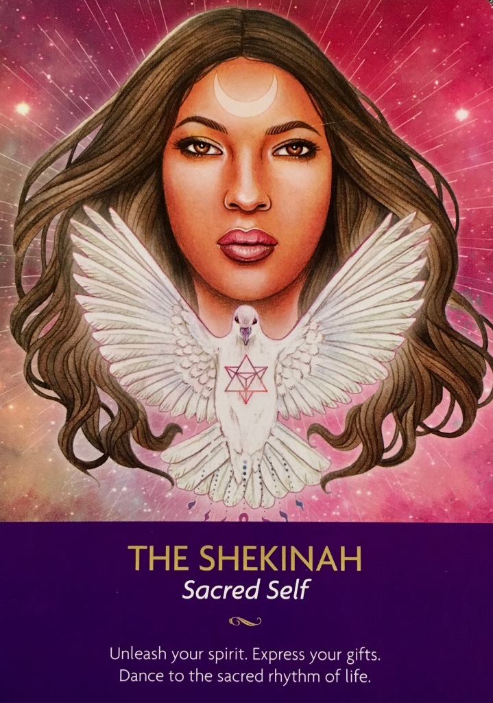 The Shekinah, from the Keepers Of The Light Oracle Card deck, by Kyle Gray, Artwork by Lily Moses
