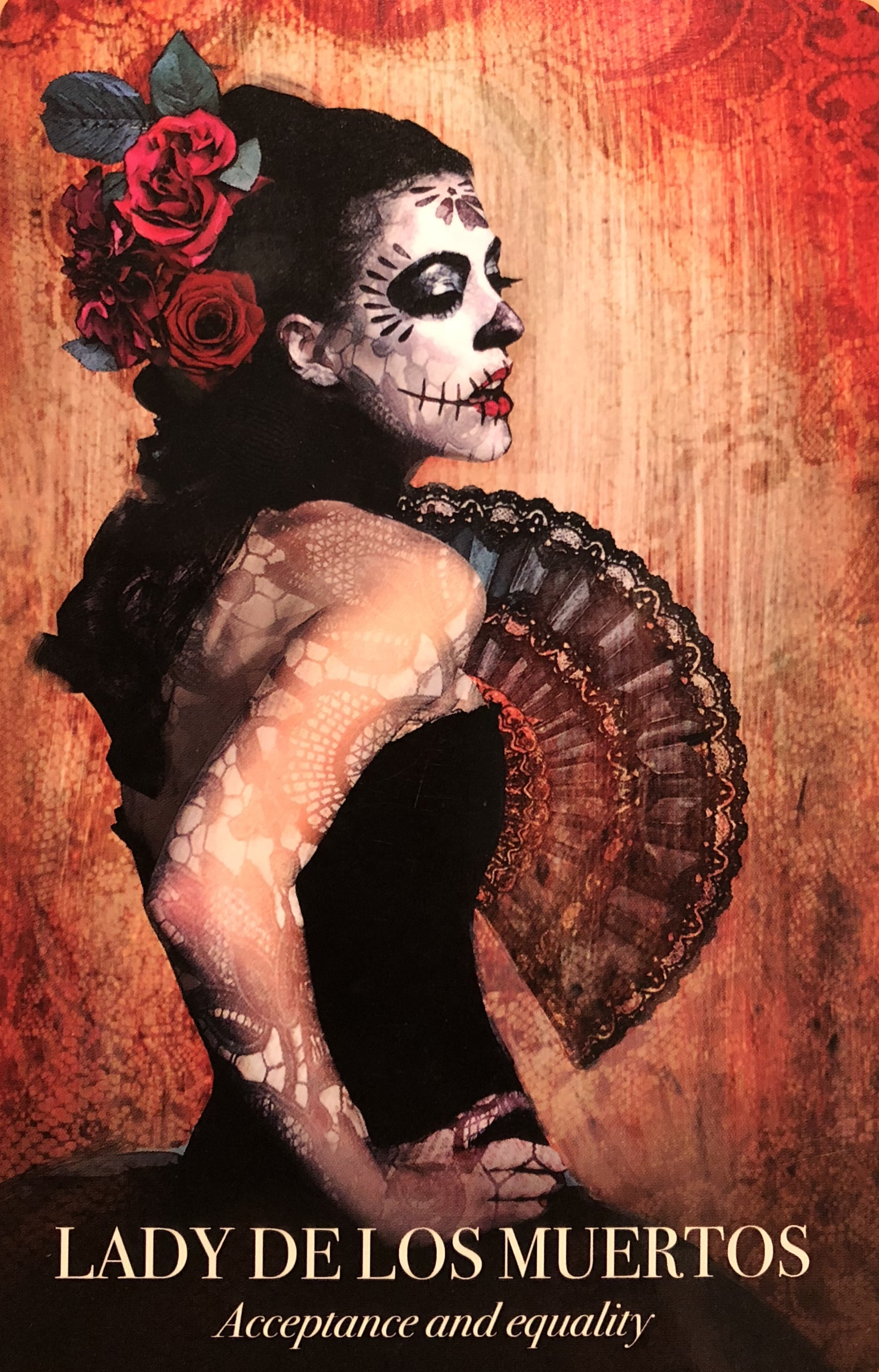 Beautiful Lady De Los Muertos, From The Halloween Oracle Card Deck, By Stacey Demarco